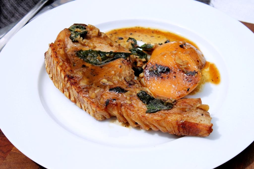 ... sauce pork chops with cherry sauce recipe garlic caper grilled pork