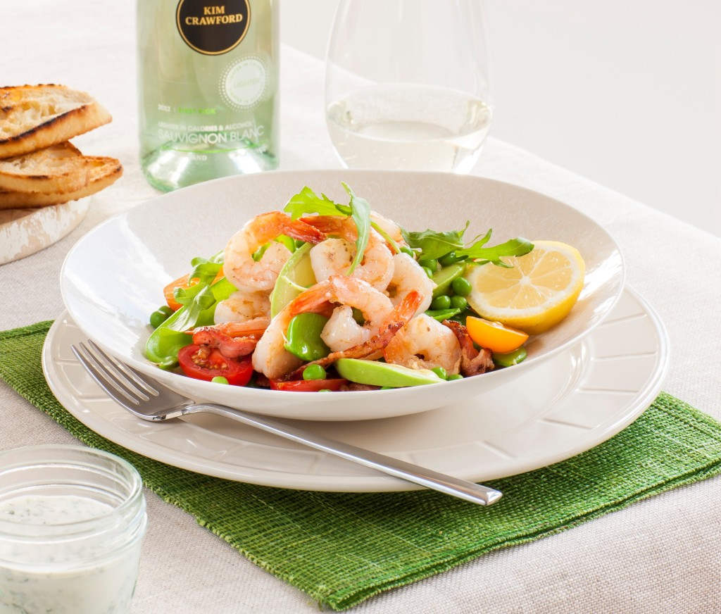 Prawn and pea salad