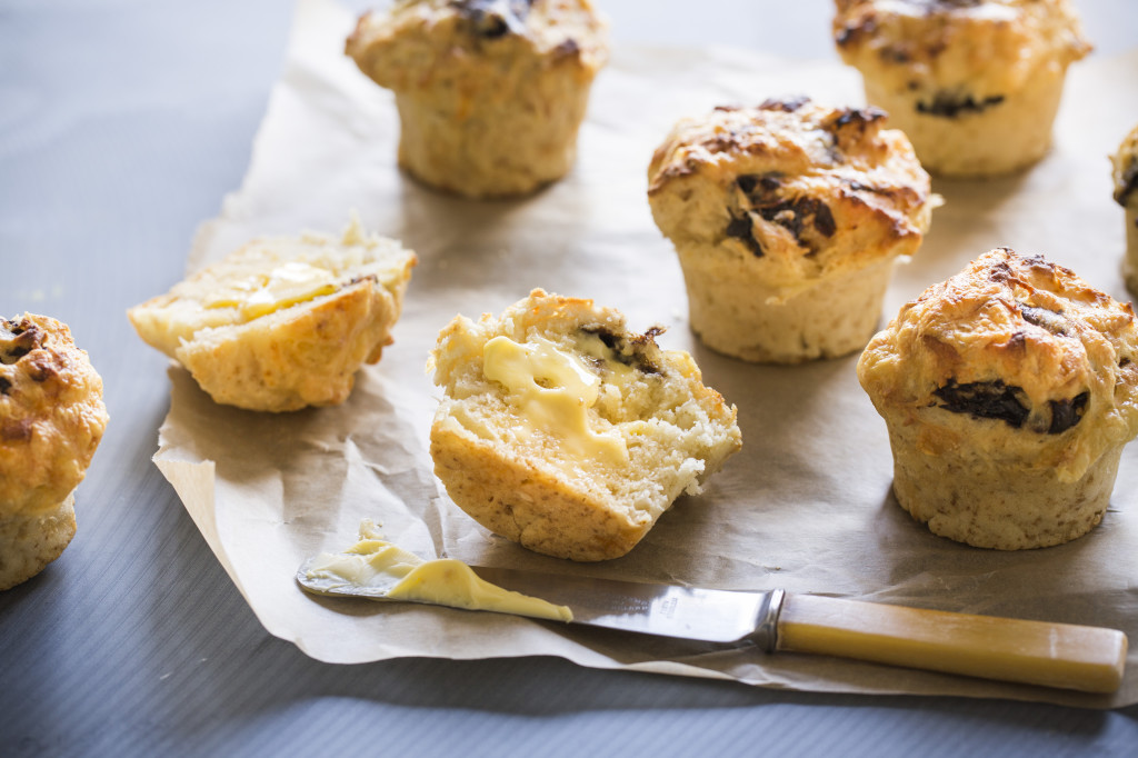 Cheese and marmite beer bread bites