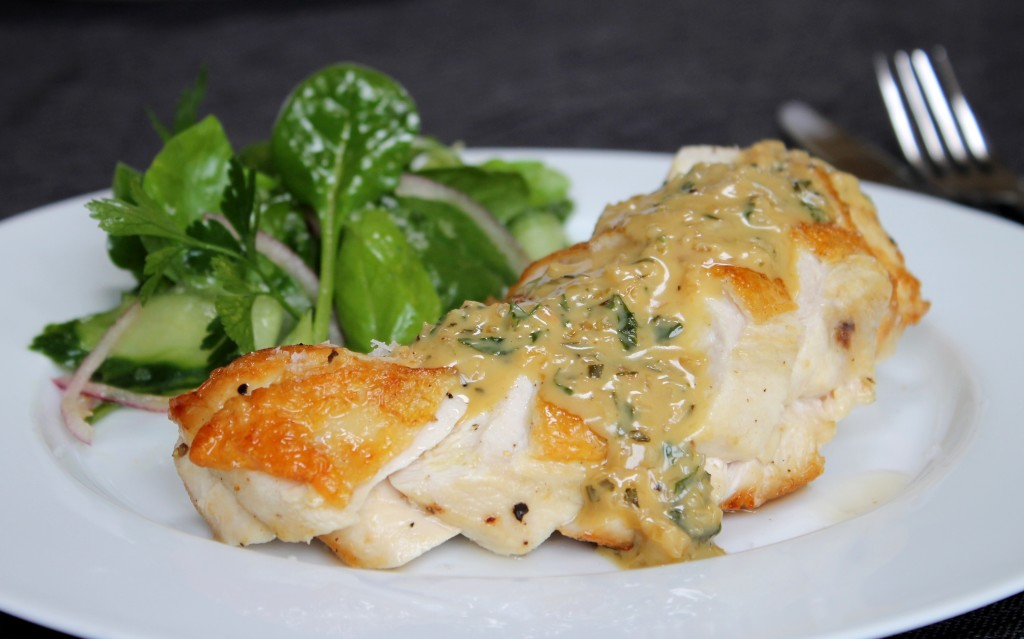 ChelseaWinter.co.nz Roasted chicken breast with creamy ...