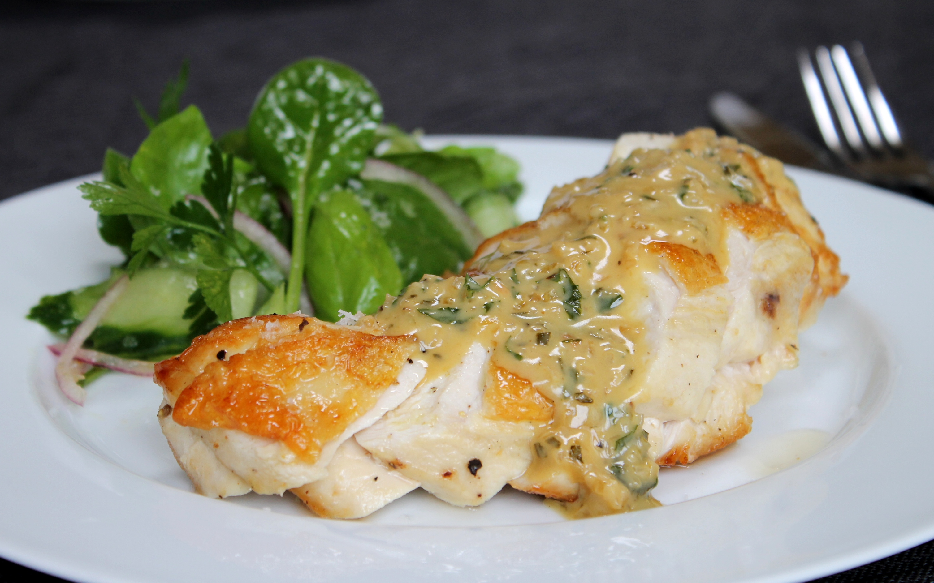 ... chicken breast with creamy garlic & herb sauce - ChelseaWinter.co.nz
