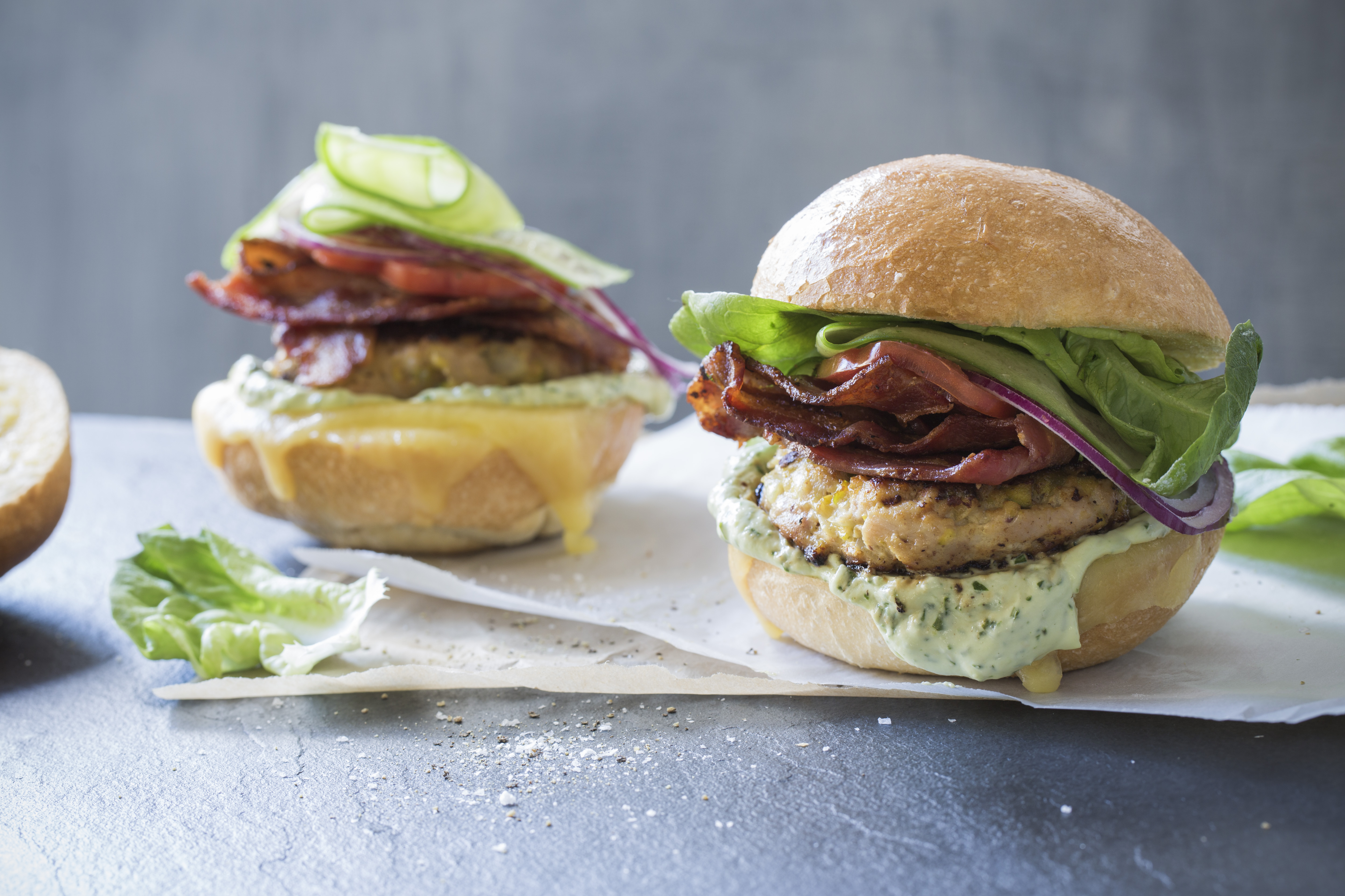Chelseawinter Co Nz Chicken Bacon Burgers With Basil Avocado Mayo Chelseawinter Co Nz