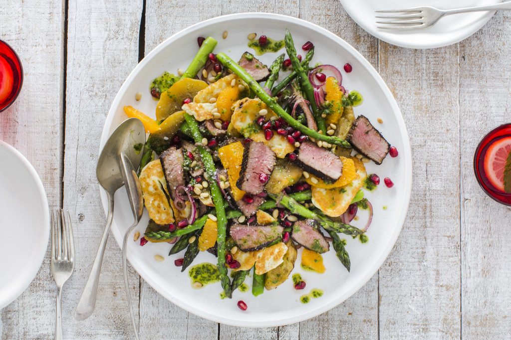 Lamb and Haloumi Salad