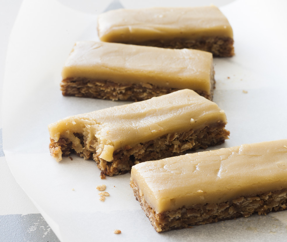 Gluten free ginger and nut slice